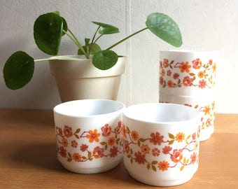 Vintage Flower Mugs (arcopal)