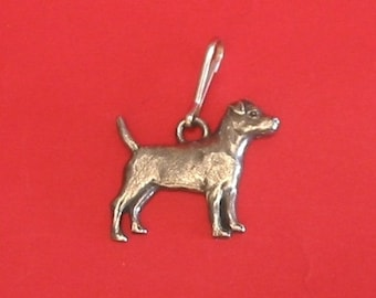 Patterdale Terrier Pewter Motif Zipper pull Mother Father Patterdale Gift