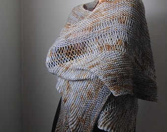 CLINQUANT shawl knitting pattern PDF