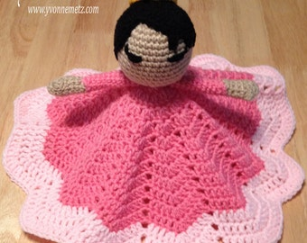 Made to Order - Crocheted Princess Inspired Lovey/Security Blanket/Crochet Doll/Amigurumi Doll