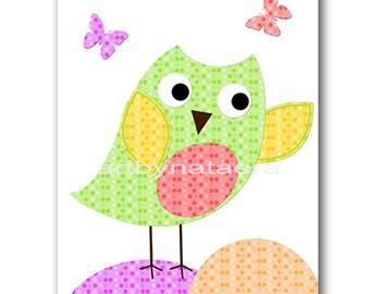 Owl Decor Owl Nursery Art Baby Nursery Print Baby Girl Nursery Decor Printable Print Digital Download Print 8x10 11X14 INSTANT DOWNLOAD rose