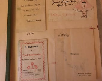 Antique Scrap Book Filled with History from 1910 to 1970