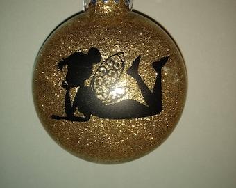 Gold Glittered Fairy Ornament