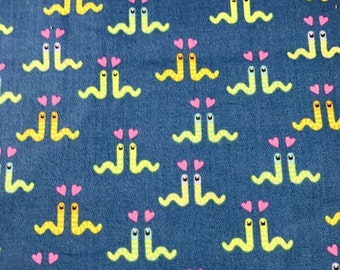 Fabric with Love worms.  Insects. Timeless Treasures.  Quilting Cotton Fabric.  Choose your cut.