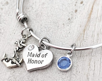 Maid of Honor Proposal Gift - Maid of Honor Jewelry - Maid of Honor Bracelet - Anchor Wedding Gift - Anchor Charm Bracelet