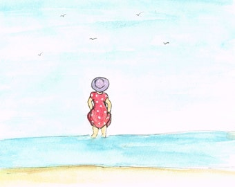 A Little Paddle - Beautiful, Quirky Art Print full of Love, Life and Hope. Signed Open Edition Print.