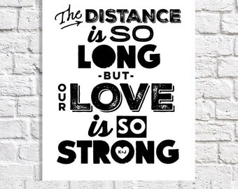 Long Distance Quote Art Navy Girlfriend Gift For Marine Girlfriend Army Girlfriend Air Force Girlfriend Fiance