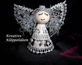 Hand Geklöppelter Angels white and silver colors