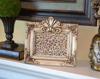Decorative 5 X 7 Picture Frame w/Orante Detail and Swarovski Crystal Accents