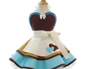 Children's Cinderella Work Apron - for kids - Cute Girls Princess Costume Apron for Dress Up & Play