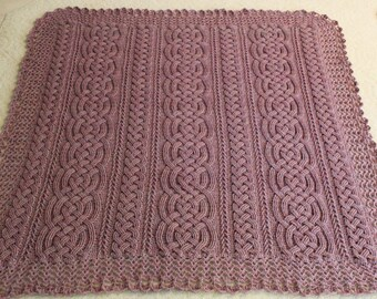 Crochet Blanket Pattern, Aberdeen Braided Cable Blanket Afghan Throw Crochet Pattern Home Decor