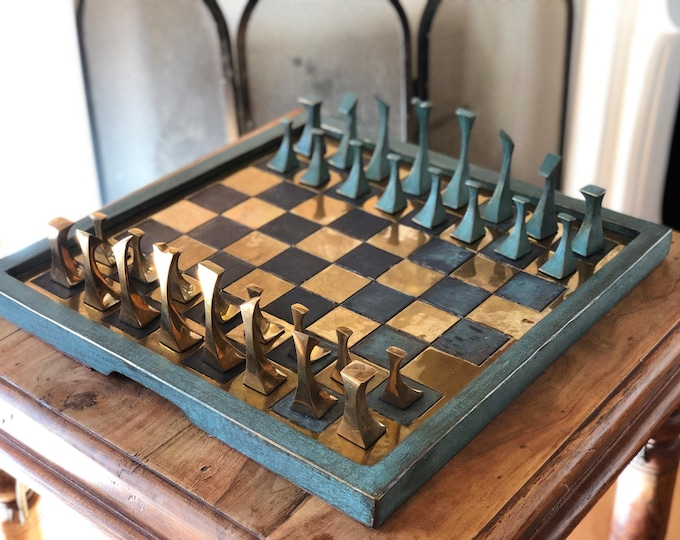 Featured listing image: Bronze abstract Chess