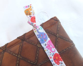 Cute elephant elastic bookmark