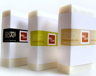 Huge Bar Of Soap, Vegan Soap Bar, Excellent Value Equals 2 Bars Of Soap, Red Leaf  Soap Seattle