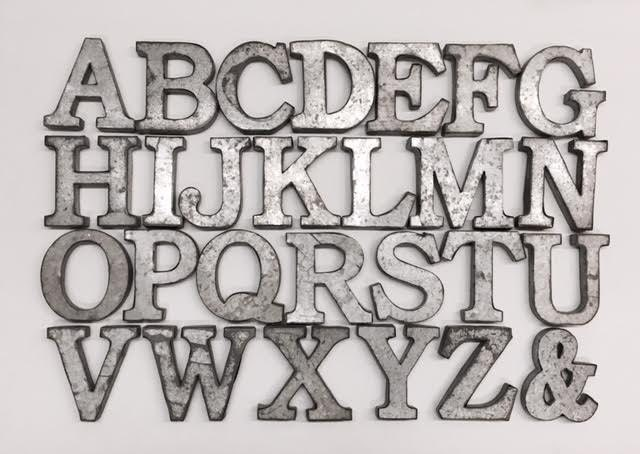 12 Inch Galvanized Letters Magnificent Metal Letterswall Decorgalvanized Metal Letterswall Inspiration