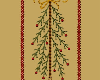 MACHINE EMBROIDERY-Stick Tree with Bow-4x4-Instant Download