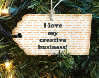 Cha Ching Gift, Shop Owner Gift, Creative Entrepreneur Gift, Seller Gift, Cha Ching Ornament, Handmade Business Gift, Seller Ornament