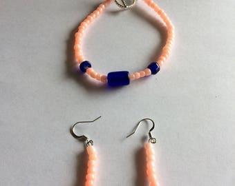 Braclet & matching ear rings