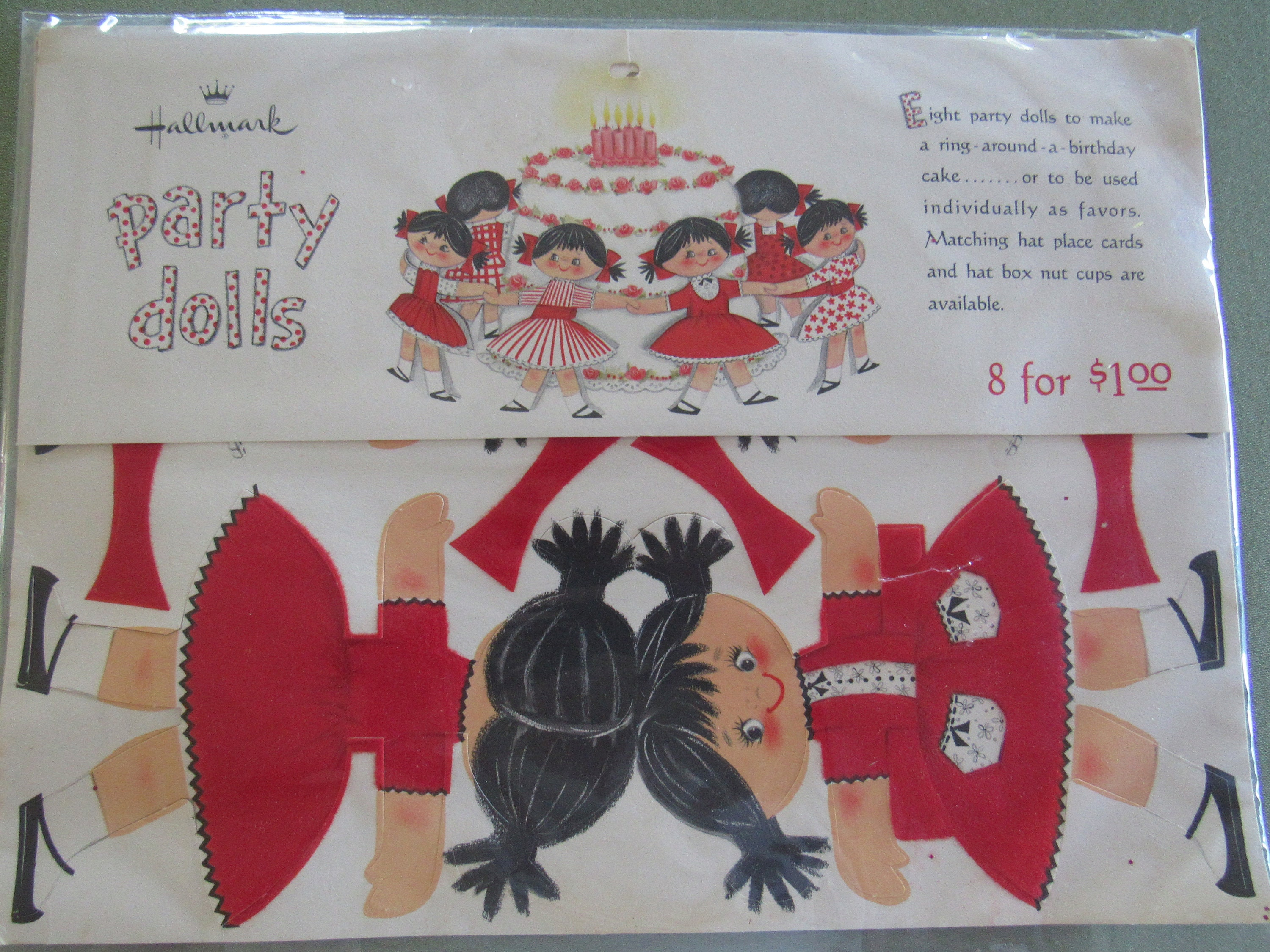 Hallmark PARTY DOLLS Vintage 1960s Ring Around A Birthday Cake