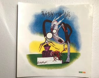 "Vintage Pink Floyd ""The Wall'  Sticker Copyright 1995"