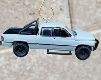 Christmas ornament, 1996 Dodge Ram 1500, Johnny Lightning,Garage decor, Man cave,car accessories,Dads gift, pickup truck, 4x4,off road,Mopar