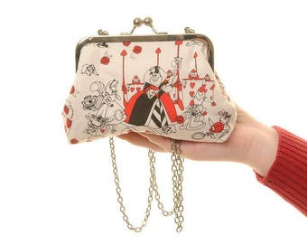 Disney Alice in Wonderland  Evening Bag and Clutch In One