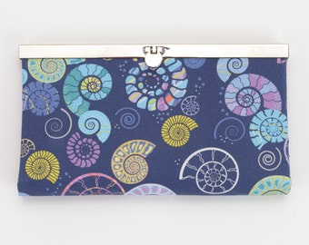 Ammonite Diva Wallet, Clutch Wallet, Diva Frame, Checkbook Holder, Credit Card Holder, Women's Wallet, Clutch Purse