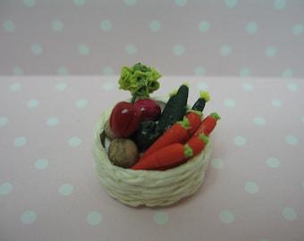 Dolls House Miniature Vegetable Basket