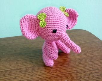 Pink elephant Amigurumi animal elephant Crochet toys Baby gift Crochet elephant