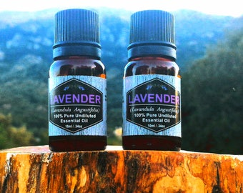 100% Pure Organic Lavender Essential Oil (Undiluted - Therapeutic Grade- GCMS), SET OF 2 (Two) 10ml/0.34oz bottles