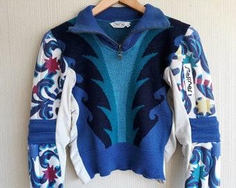 Ski sweater women xs Steffner sweater Ski sweater vintage Wool sweater women xs Austrian sweater wool Made in Austria 80s sweater women