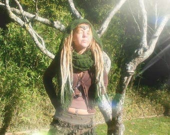 Persephone long scarf with large hood