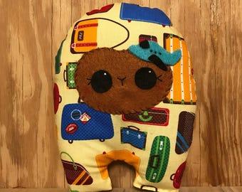 Luggage Huggle | Cute Monster Plush, Cute Stuffed Toy, Stuffed Animal, Handmade Plush Toy