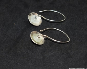 Sea Glass Gift, Sterling Sea Glass Earrings, Sea Glass Jewelry, Beach Jewelry, Sterling Earrings, Beach Glass Earrings, Sea Glass Etsy