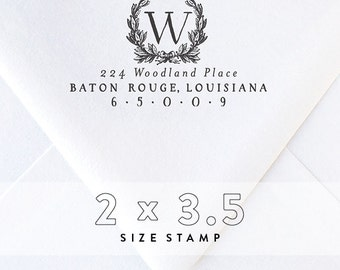 Return Address Stamp | Personalized Stamp | Housewarming Gift | Monogram Stamp