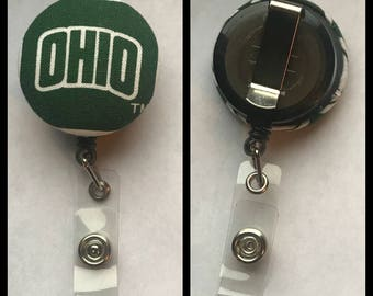 Ohio University retractable ID holder, badge holder, nurse, teacher, coach