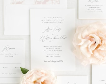 Alyssa Wedding Invitations - Sample