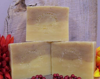 Orange Hibiscus Soap - All Natural Cold Processed Soap ~  Vegan Soap