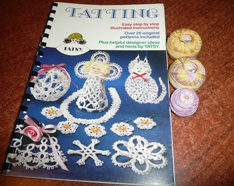 Vintage Tatsy Tatting Pattern Books , Threads