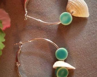 Beach Shell Hoop Earring's