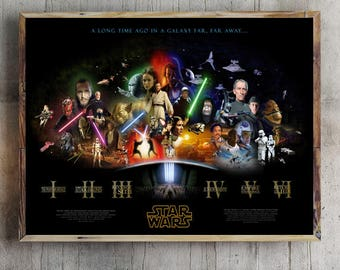Star Wars All Episodes Anthology movie Poster