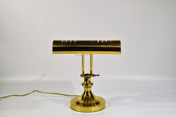 Brass Piano /Desk Lamp Vintage Brass Adjustable Desk/Piano