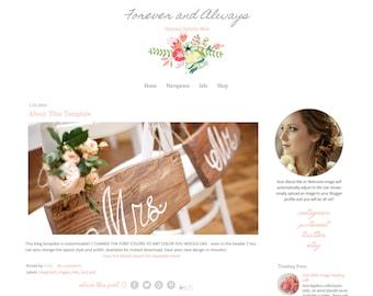 Flower Blogger Template - Responsive Blogger Template - Vintage Blog Template