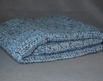 Great Atlantic Blue Crochet baby blanket