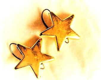 gold stars earrings