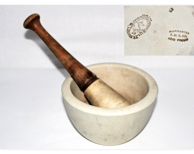 Antique Maddock & Sons Apothecary Mortor and Pestle