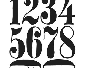 NUMERIC Numbers Large - Tim Holtz Cling Rubber Stamp Set