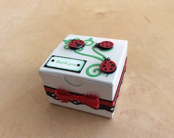 Toddler Girl Gift Box, Ladybug Gift Box, Ladybug Favor Box, Ladybug Themed Birthday Party, Girl Birthday Party Favors, Girl Birthday Gift