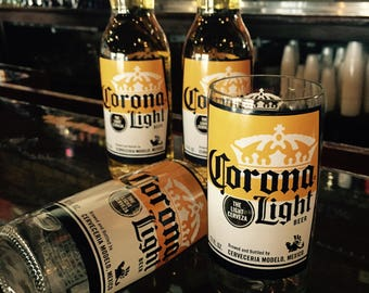 Glasses made from Upcycled CORONA LIGHT Bottles