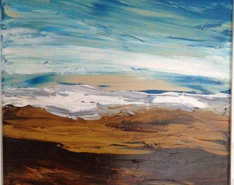 Original  Seascape, acrylic painting, Storm over Whitby by Tracey Ward